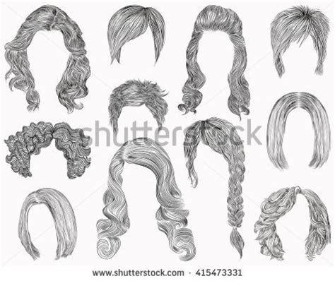 drawing of bob hair curly hair stock images royalty free images vectors