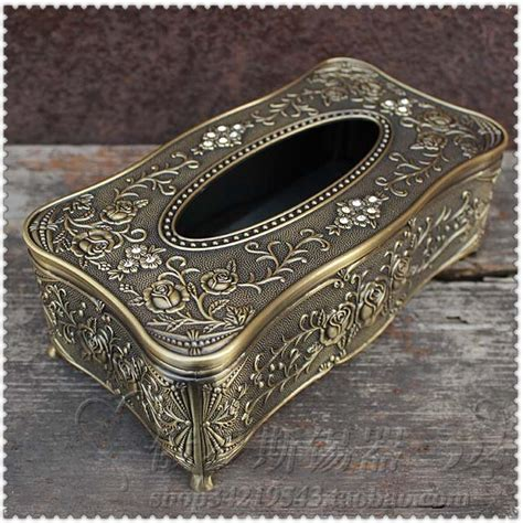 In The World Of Metallic Accessories Bronze A Clutch Named For An Equally Fashiontribes Fashion by Europe Metal Mode Drops Of Glue Carved Tissue Box Napkin