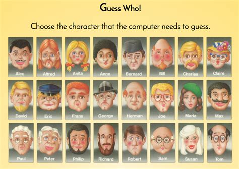 Guess Who Character Cards