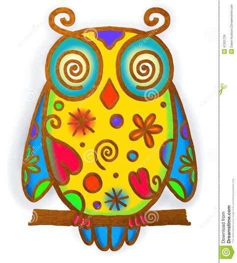 doodle paint owl paint doodle stock illustration image 47201729