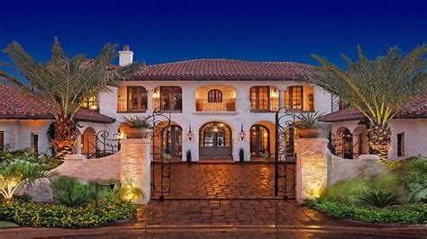 Open Floor Plans For Ranch Style Homes by Spanish Hacienda Style Homes Exterior Tuscan Style Homes