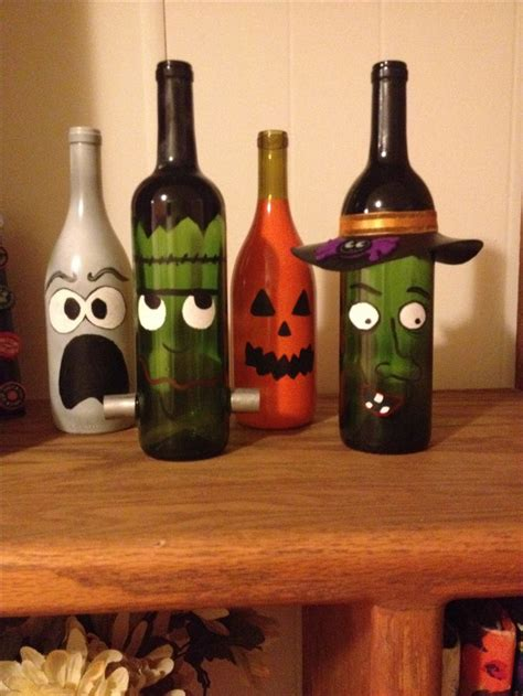 wine bottle l ideas painted wine bottle decor halloween diy origami owl