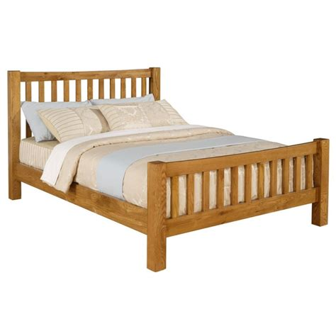 Oak Wooden Bed Frames Solid Oak Bed Frame 4ft 6 Quot Free Next Day Delivery