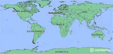 Bosnia World Map by Where Is Bosnia And Herzegovina Where Is Bosnia And