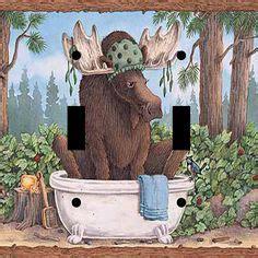 rocker bathroom moose bathroom bath wildlife double style toggle light gfi rocker outlet plate great