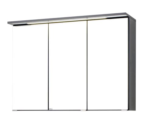spiegelschrank 90 cm breit led bad spiegelschrank bologna 3 t 252 rig mit led lichtleiste
