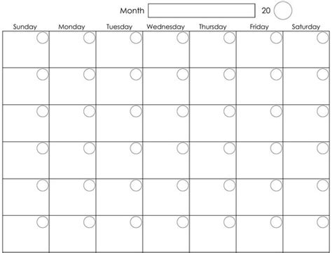free blank monthly calendar template printable monthly calendar template gallery calendar