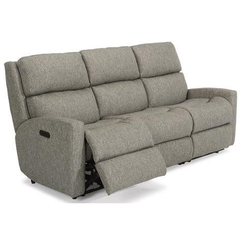 power reclining sofa modern flexsteel catalina contemporary casual power reclining