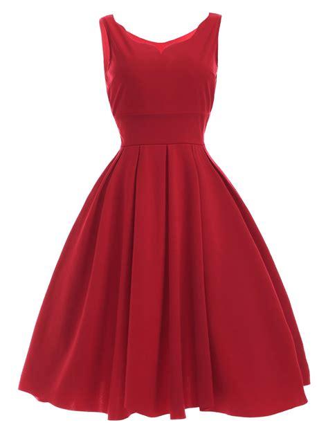 Dress Dress vintage sweetheart neck pleated dress xl in