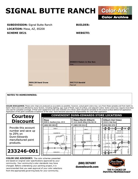 signal butte ranch hoa approved paint colors