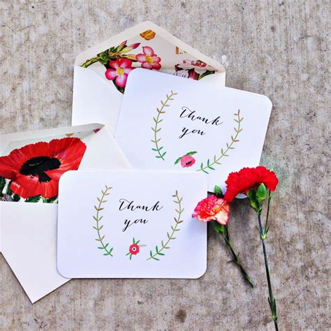 Handmade I You Cards - thank you card diy house of jade interiors