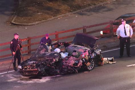 gory car crashes killed in gruesome three car crash on bronx highway