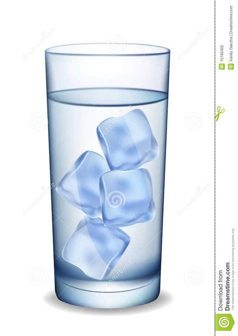 wann wird wasser zu eis glas wasser mit eis vektor abbildung bild farbe