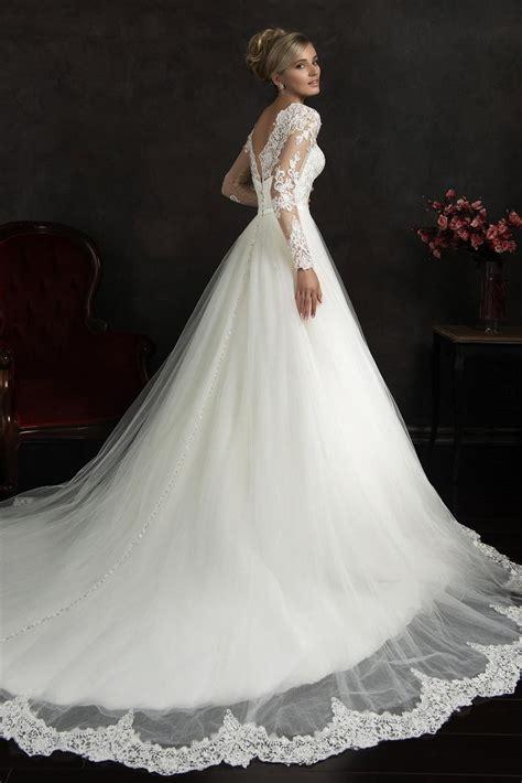 Brautkleider Langarm by Princess Sleeve Wedding Dress