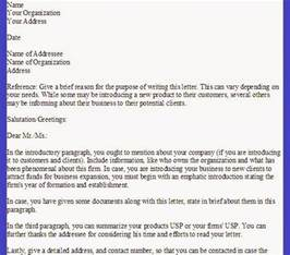 Letter For Small Business Or Organization Small Business Introduction Letter The Best Letter Sle