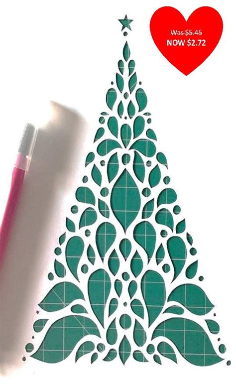 Items Similar To Christmas Tree Diy Papercut Template On Etsy Tree Paper Template