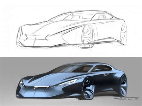 Tutorial Design Car | lexus concept from drawing to render car body design