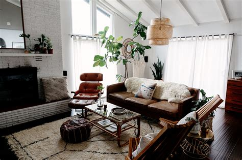 Small Livingroom Decor home tour modern bohemian inspired family sanctuary