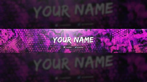 photoshop youtube banner template awesome free youtube banner