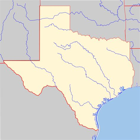 blank texas map map of texas texas maps mapsof net