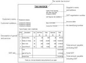 Invoice With Gst Template by Gst Invoice Template Invoice Exle