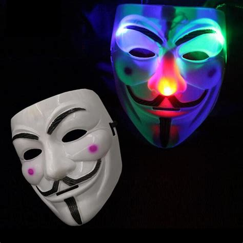 light mask led v mask for vendetta light up masquerade