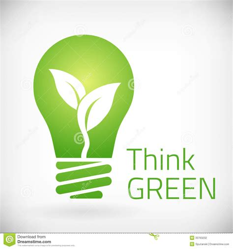 think on think green eco bulb stock photography image 33763232