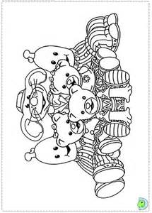 in coloring pages bananas in pyjamas coloring page dinokids org