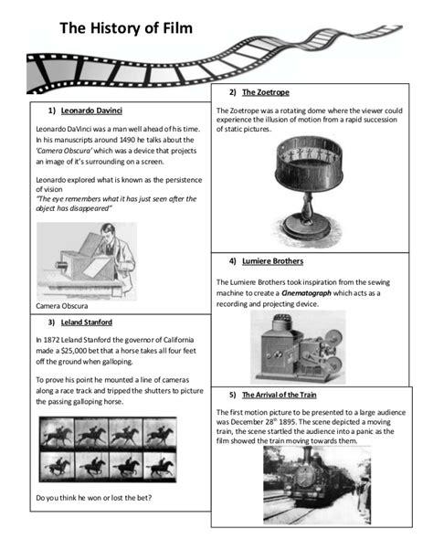 film history quiz film lesson plan 1 worksheet