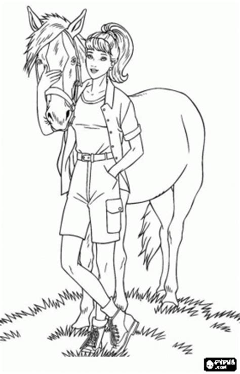 coloring pages of a horse with a girl 17 best images about color pages on pinterest coloring