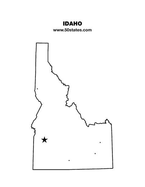 printable map idaho idaho map