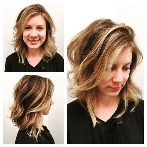 Lob With Soft Curl Hairstyle S Angled Lob With Undone Soft Waves And