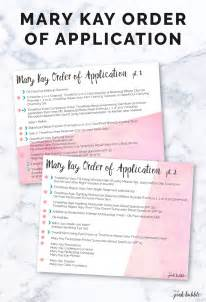order of application the pink