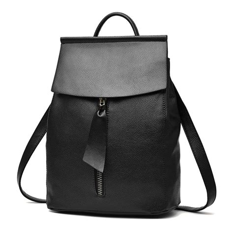 High Quality Handbag Fashion Owl C755 Black 2016 news style backpack high quality pu school bags for teenagers waterproof preppy style