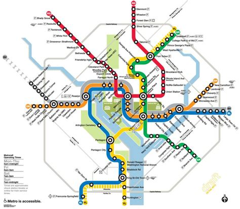 washington dc map subway washington dc metro rail stations c21redwood