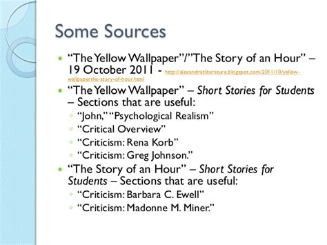 story of an hour thesis the story of an hour and the yellow wallpaper essay