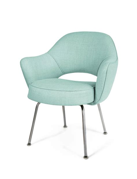 saarinen armchair saarinen executive armchairs in powder blue woven