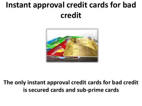 instant approval credit cards for bad credit and credit repair