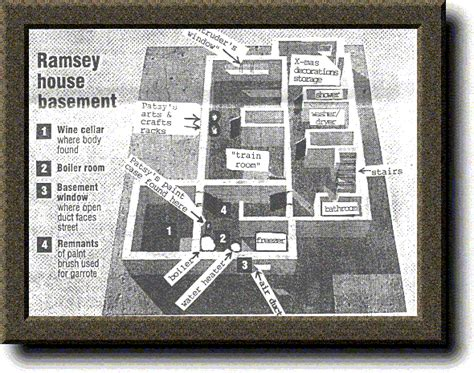layout of ramsey house jonbenet ramsey boulder co home basement layout