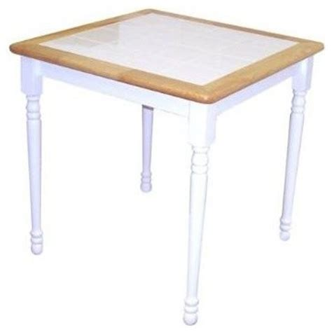 cottage wood dining table w ceramic tile top