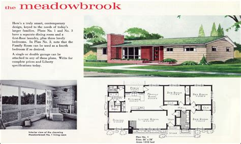 1960 s ranch floor plans modern house plan modern