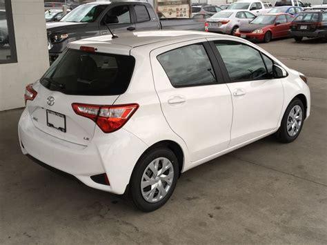toyota us1 new 2018 toyota yaris le hatchback 4 door car in kelowna