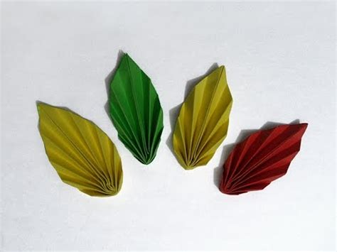 Make Paper Leaves - how to make paper autumn leaves
