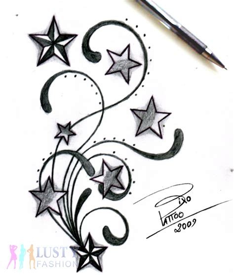 shooting star name tattoo designs tribal shooting tattoos design