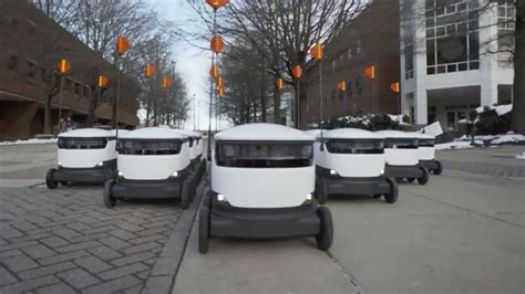 worlds largest fleet  delivery robots   university