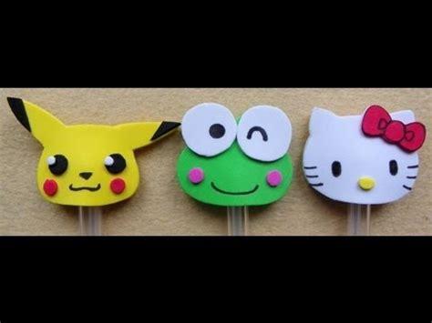 decorar un boli con un pikachu una hello kitty y una rana de goma eva decora tus bol 237 grafos con goma eva quot foami quot gafete