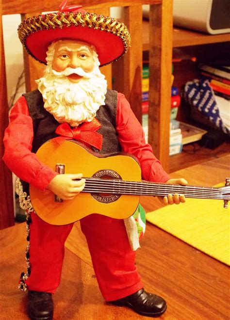mariachi mexican santa with guitar my collection of