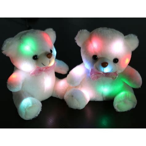 Baby Glow Jaket Animal Balon shop zs472 lovely plush white teddy glow in the stuffed toys