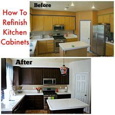 how can i refinish my kitchen cabinets refinish kitchen cabinets on pinterest lowes kitchen