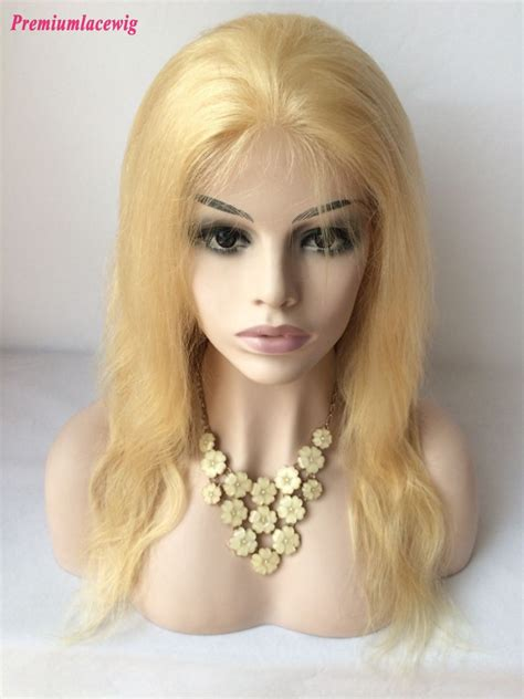 blonde wig colours 20inch 613 color lace front wig brazilian blonde hair body